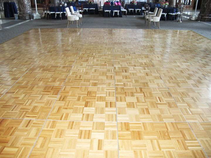 Oak dance floor