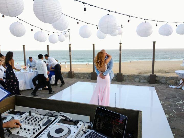 Tmx Pb White Dance Floor Dj Set Up And Chinese Lanters 51 1007945 Cabo San Lucas, MX wedding dj