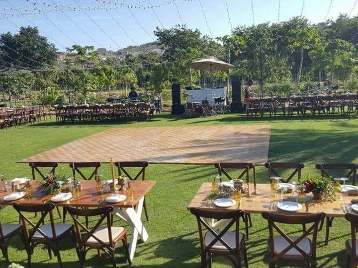 Tmx Rustic Dance Floor Picture At Flora Farm 51 1007945 Cabo San Lucas, MX wedding dj