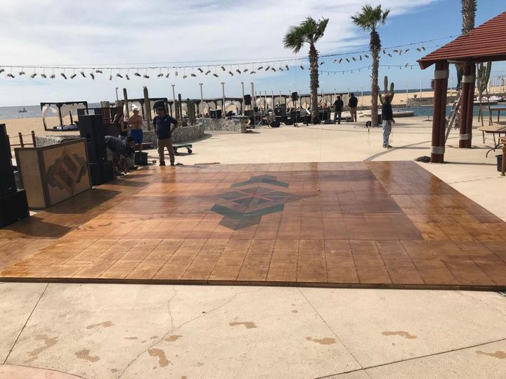 Tmx Wooden Dance Floor With Floral Design 8 X 8 Meters 51 1007945 Cabo San Lucas, MX wedding dj