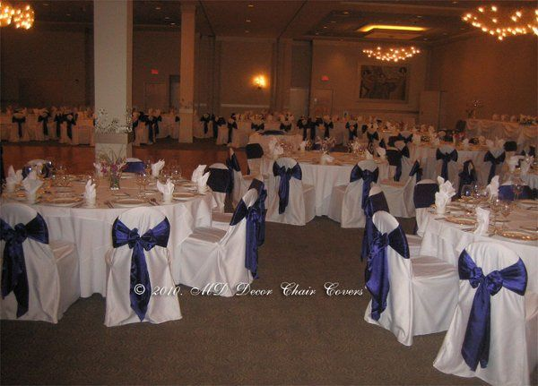 Navy chair bows