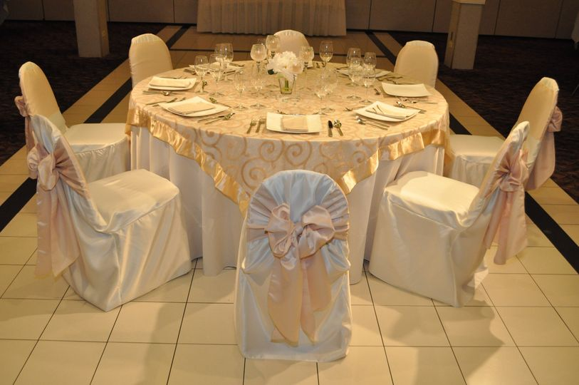 Gold table and chair decor