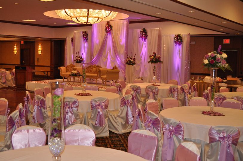 Pink lighting and uplights