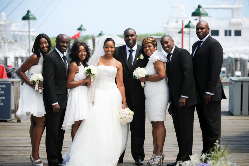montauk new york african american real wedding tre