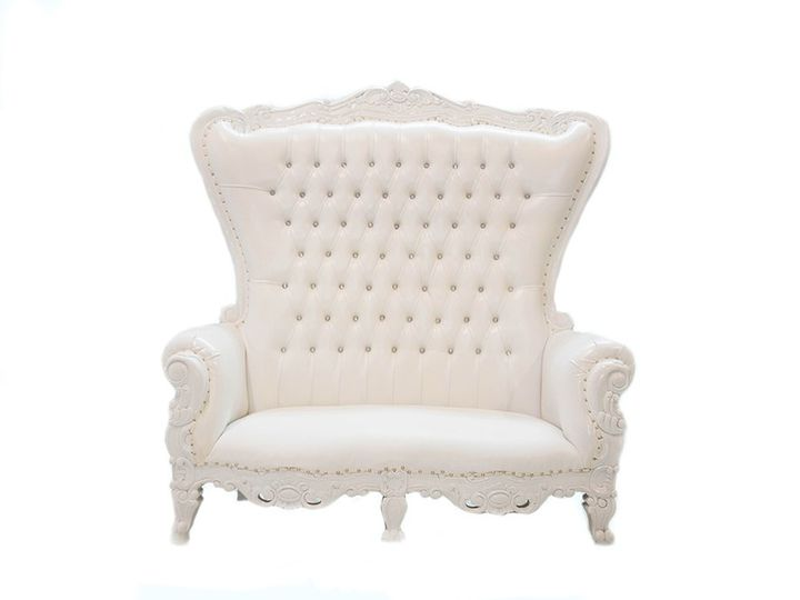 Tmx Throne Loveseat White 51 1198945 157843194529069 Troy, MI wedding rental