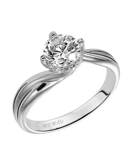 Style ArtCarved 31-V303ERW  Whitney, Classic Diamond Solitaire Engagement Ring with Round Center...