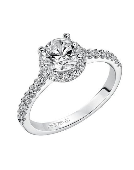 ff0c9a95d Style ArtCarved 31-V324ERW Layla, Classic Contemporary Diamond Engagement  Ring with Round.