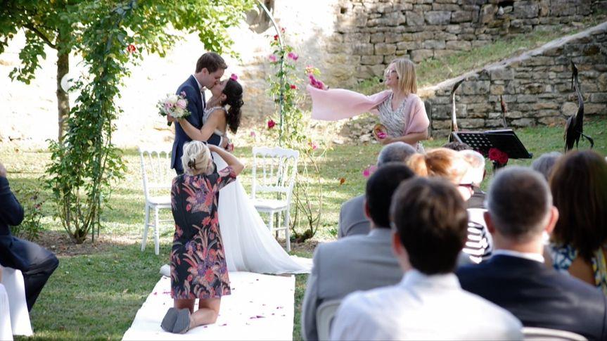 Wedding in a Burgundian castle