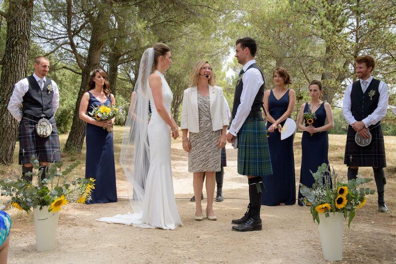 Scottish-French wedding