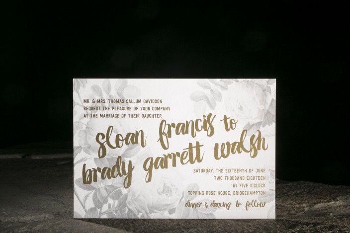 Golden lettering