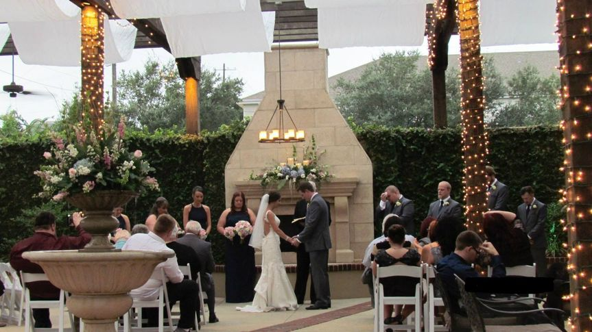 a courtyard wedding