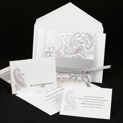 Tmx 1293916986420 PaisleysilverW6065lr Middle Island wedding invitation