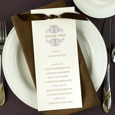 Tmx 1293917039373 MenucardCSF4134MClr Middle Island wedding invitation