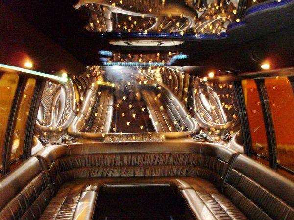 Interior View of Luxury Bus at Night. Also available for a bachelor or bachelorette party.   Guests...
