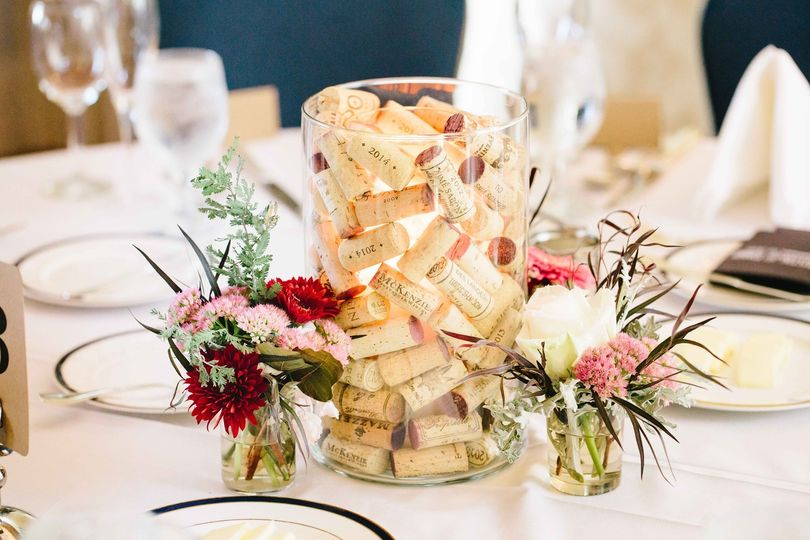 Cork Candle and Centerpiece