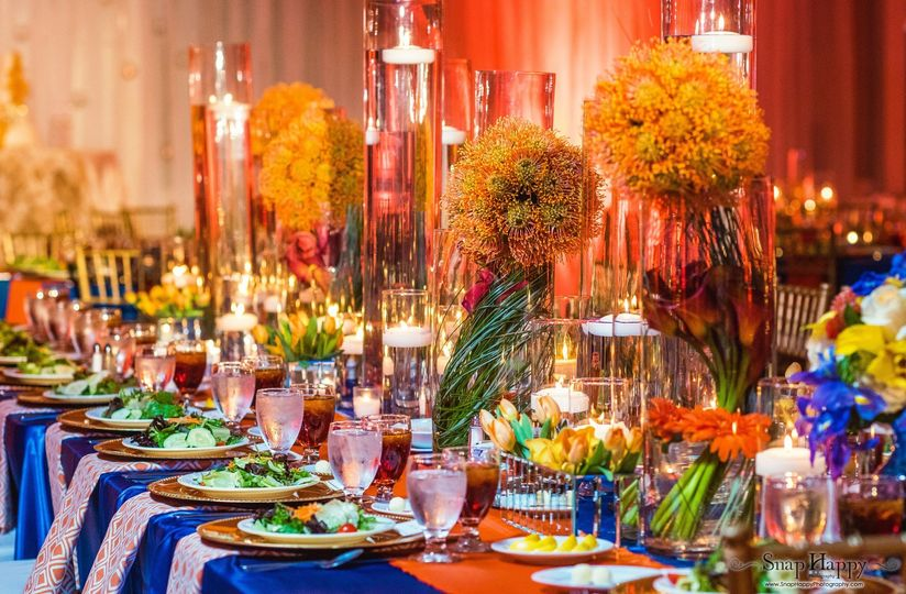 Extravagant table setting
