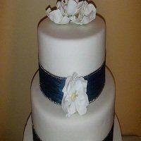 Tmx 1361331815138 WeddingCakeRibbonBriarRoseFlowers8 Frankfort wedding cake