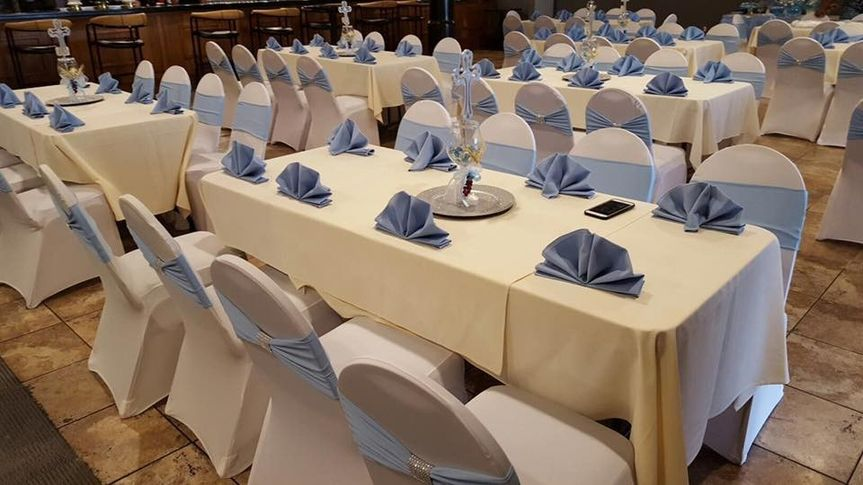 Corn blue seating covers