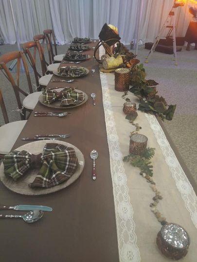 A rustic tartan theme