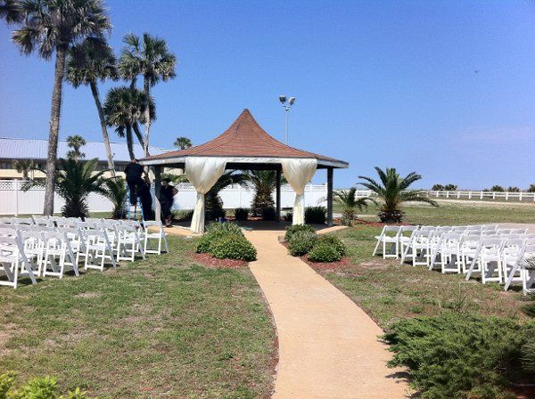decorated gazebo at NAS Mayport Ocean Breeze Conference Center