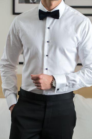 BALANI Custom Tuxedo Shirt