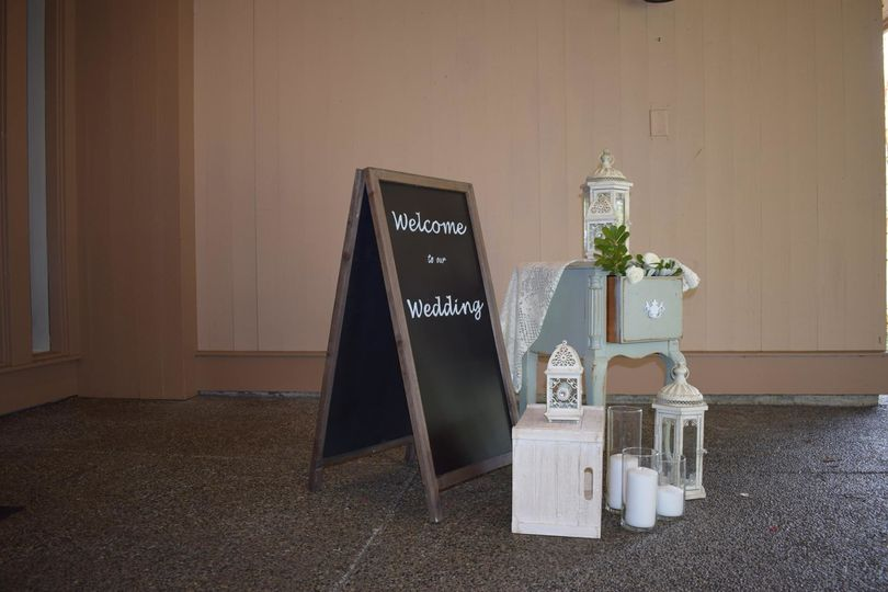 Rent chalkboards, furniture and lanterns through Rustic Receptions