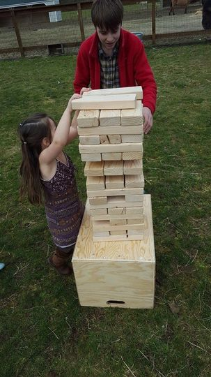 Rent our Giant Jenga game for your event