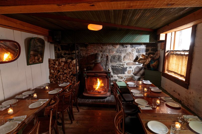 Fireside private dining room