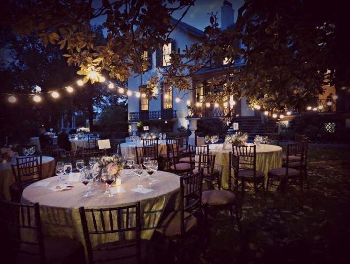 Outdoor Reception - Evening
