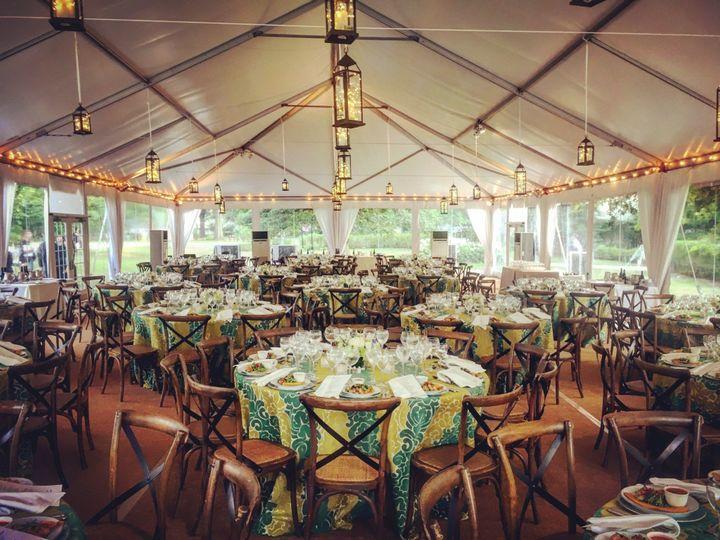 Rustic reception tent