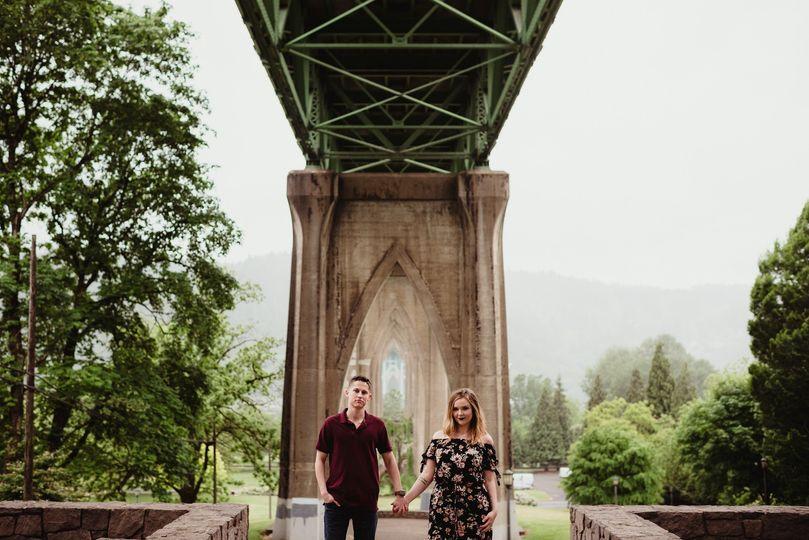 Portland engaged couple