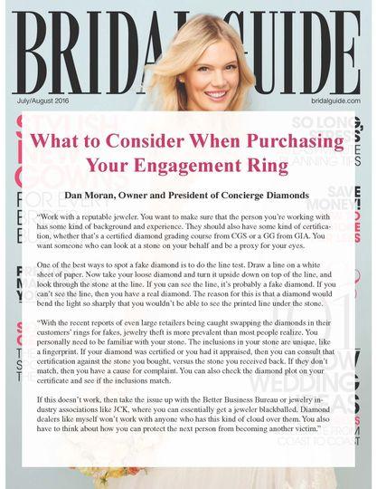 bridal guide magazine 2016