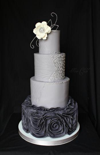 50th Wedding Anniversary Cake With Salt Lake City Utah Temple
