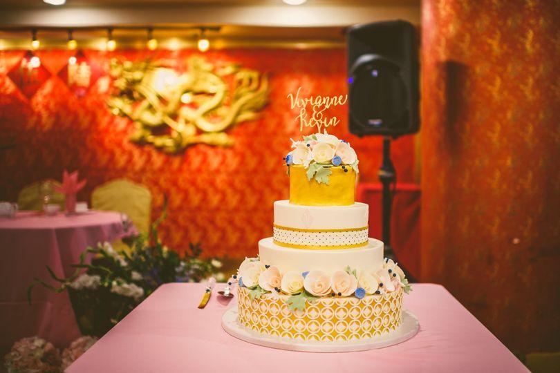 Dessert Works Wedding Cake Westwood MA WeddingWire