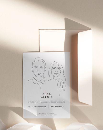 Custom Illustrated Invite
