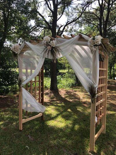 Outdoor ceremony pergola