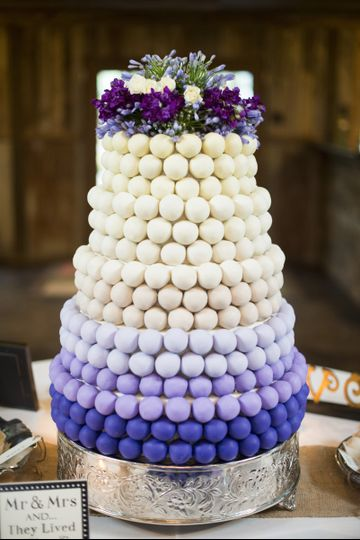 5 tier ombre cake
