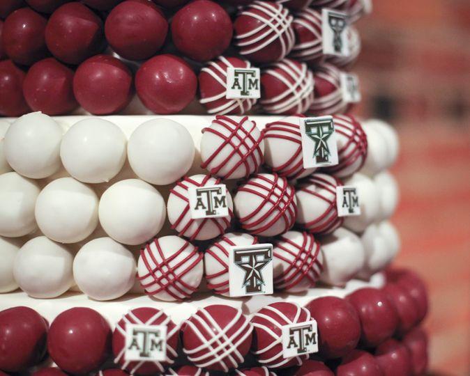 cake ball grooms cake close up