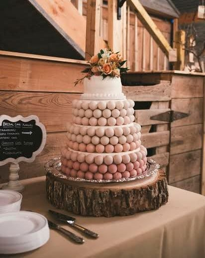 pink ombre cake ball wedding cake cropped