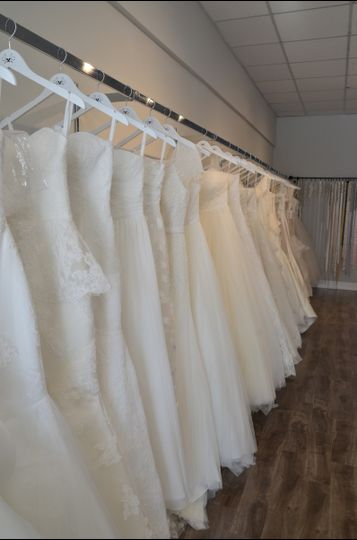 Array of wedding dresses