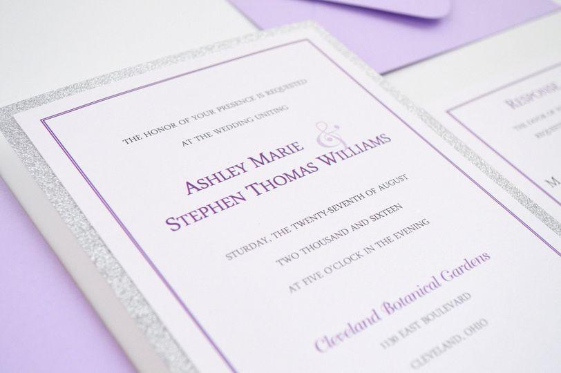 Simply Romantic Flat Wedding Invitation