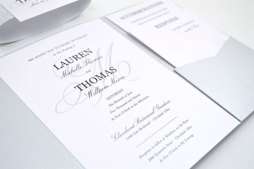 Simple Elegance Pocketfold Wedding Invitation