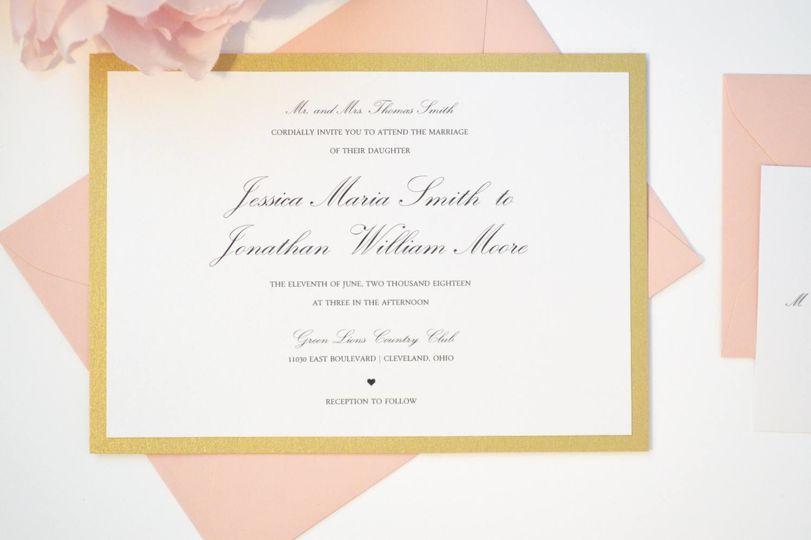 Simple Script Flat Wedding Invitation