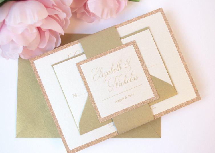 Elizabeth Flat Wedding Invitation