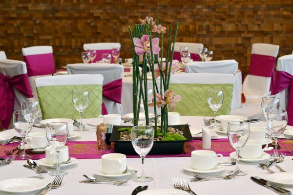 Budget Friendly Option:  Use the linens provided by your venue and add runners and napkins to add...