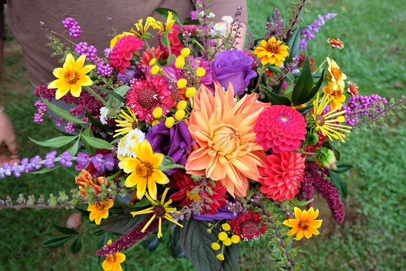 Colorful Fall Bridal Bouquet