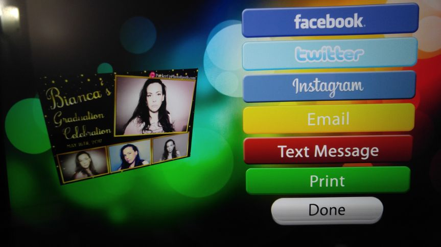 Our Social Sharing Station on our INFINITE booth has every option your could want.  Check out all...