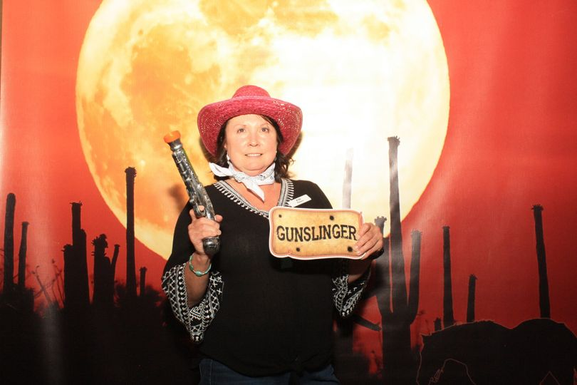 Sonoran Sky Vinyl Backdrop and our Western Themed Props for this Shindig.   Check out all our...