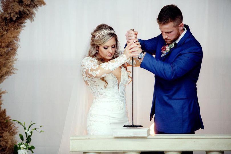 A wedded couple