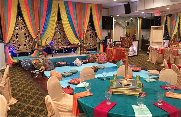 Cozy and colorful venue